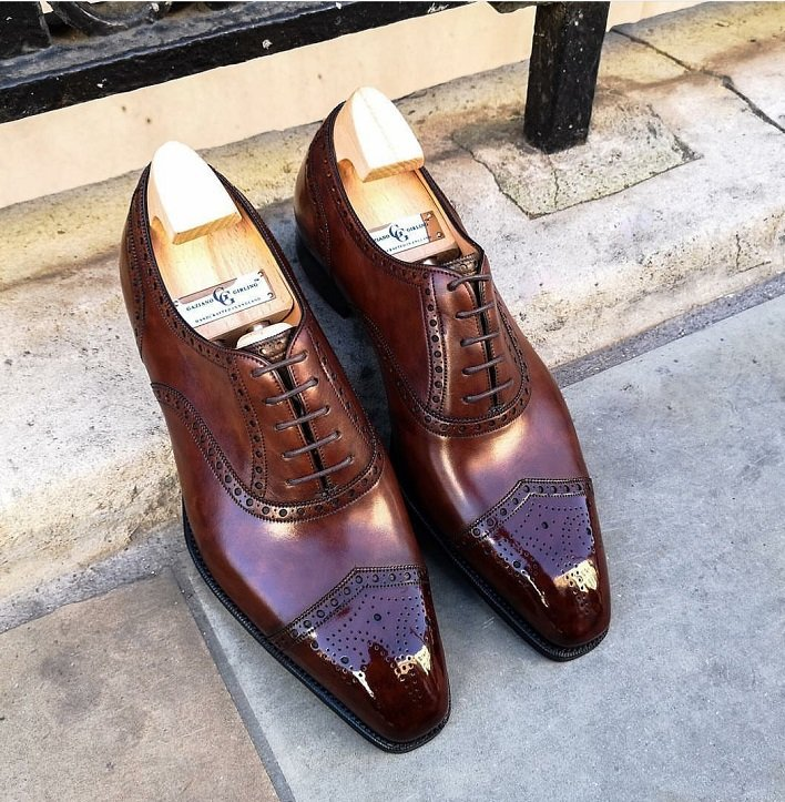 Gaziano & Girling brown V captoe brogues.jpg